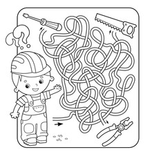 Maze Or Labyrinth Game For Pre...