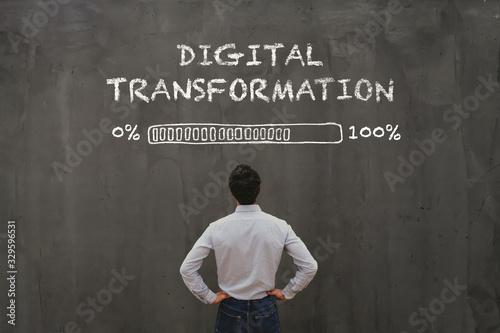 Fotografía digital transformation concept in business, disruption