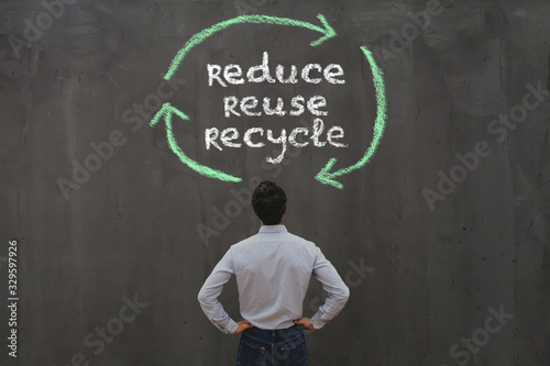 Obraz reduce reuse recycle, sustainability concept - fototapety do salonu