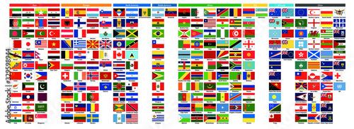 Tela 世界の国旗 | World flags - アジア39ヶ国・ヨーロッパ41ヶ国・北アメリカ23ヶ国・南アメリカ12ヶ国・アフリカ54ヶ国・NIS12ヶ国・オセア