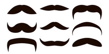 Vector Set Of Mustaches. Props...