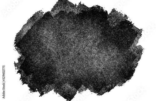 Black ink blotch painted frame canvas texture background design Wallpaper Mural