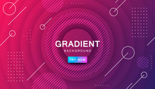 Purple Circle Color Background. Dynamic Textured Geometric Element Design With Dots Decoration. Modern Red And Purple Gradient Light Vector Illustration.