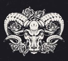 Monochrome Aggressive Ram Tatt...