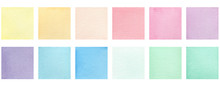 Set Of Watercolor Colorful Squ...