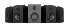 3D Rendering Speakers Isolated...
