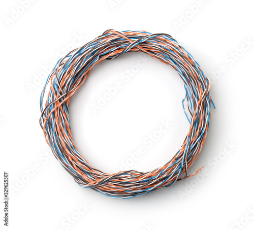 Twisted pair cable roll Fototapete