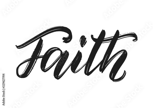 Foto Faith word hand lettering