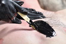 Hairy Male Chest And Black Wax...