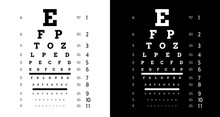 Poster For Vision Testing In Ophthalmic Study