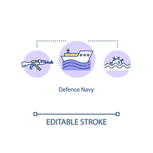 Defence Navy Concept Icon. Mil...