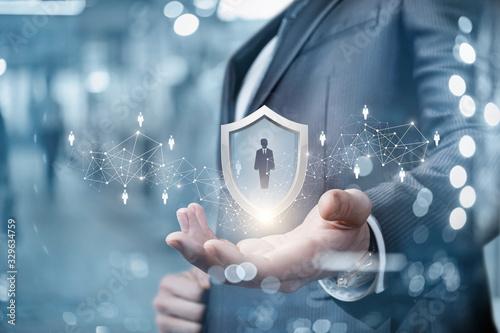 Fototapeta The concept of customer protection. obraz