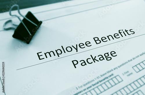 Obraz Employee Benefit Package forms - fototapety do salonu