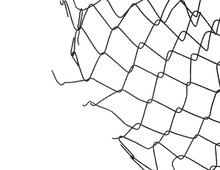 Old Metal Wire Fence Protectio...