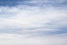 Cloudy Blue Sky With White And Gray Clouds. Background For Text And Design.