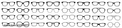 Photo Glasses collection. Sunglasses set. Vector