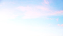 Light Soft Natural Background, White, Turquoise And Gently Pink Sky