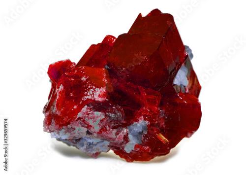 Valokuvatapetti rough red ruby and diamonds gemstones crystals