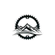 Emblem Of Mountain Bike And Ge...
