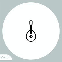 Mandolin Vector Icon Sign Symbol