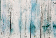 Old Painted Wooden Fence. Back...