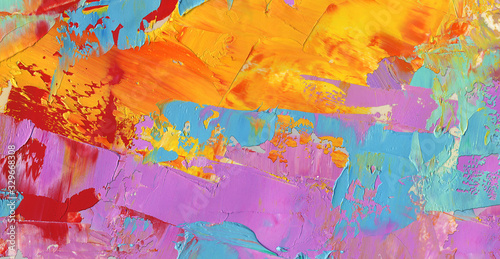 Fototapety, obrazy: Abstract textured background as wallpaper, pattern, art print, etc. Natural oil paint. High quality details.