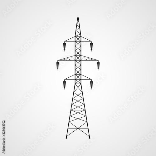 Electricity pylon vector icon Wallpaper Mural