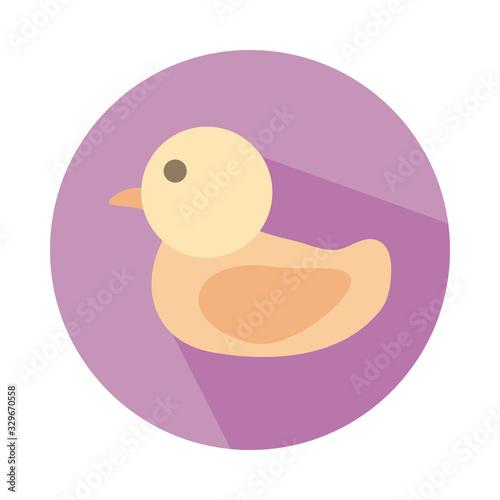 Vászonkép ducky child toy block style icon