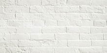 White Brick Wall Background. N...