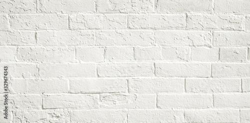 White brick wall background Wallpaper Mural