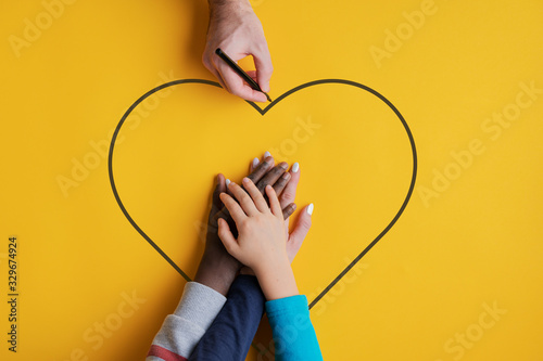 Conceptual image of family and unity Canvas Print