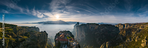 Fotografie, Obraz Aerial view of monastery Trinity and breathtaking pictures of valley and landmar