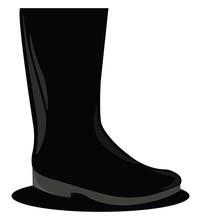 Black Big Shoe, Illustration, ...