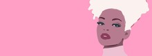 African Woman With Blonde Afro...