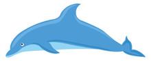 Blue Dolphin, Illustration, Ve...