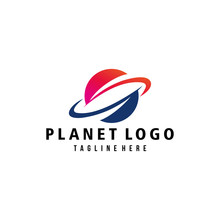 Planet Logo Icon Vector Isolated