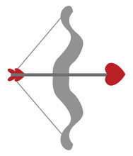 Cupid Arrow, Illustration, Vec...