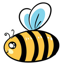 Fat Bee, Illustration, Vector ...