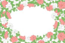 Floral Horizontal Frame Templa...