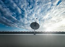 Satellite Dish On Background O...