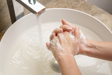 Hygiene. Cleaning Hands With S...