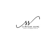 Letter SS Handwrititing Logo W...