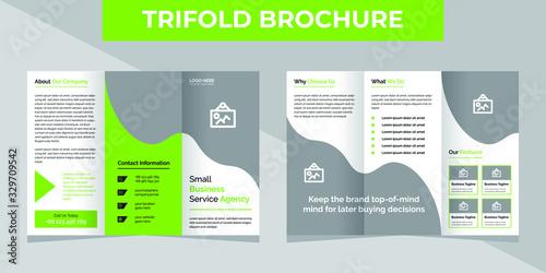 Fotografie, Tablou Business trifold brochure template