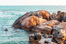 Rock Formations In Galle Fort, Sea Bath Beach