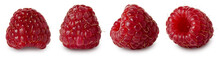 Raspberry Isolated. Red Ripe R...