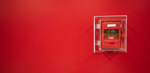 The Red Fire Alarm Switch On T...