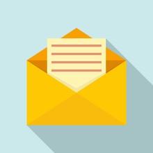 Mail Letter Icon. Flat Illustr...