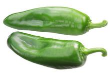 Anaheim Chile Pepper, Green Whole Pod (Capsicum Annuum Fruit)