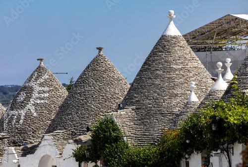 Fototapeta Stone roof of Trulli House in Alberobello, Italy