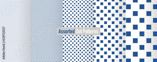 Fotografie, Obraz Assorted Square Dot Patterns
